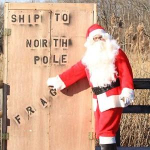 Akron Omens Shrek - Santa Claus in Akron, Ohio