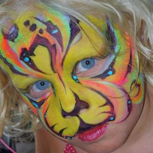 Blazin' Brush Strokes Face Painting