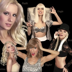 Christina's tribute to Gaga, Britney, Taylor, & Faith Hill - Lady Gaga Impersonator / Singing Telegram in Las Vegas, Nevada