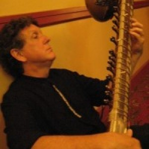 "Chuck Morrow as ""Austin Sitar"" - Sitar Player in Wimberley, Texas"