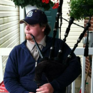 Colin Donahue bagpipes