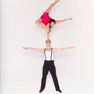 Duo hand balancing , aerialist as well . - Circus Entertainment in Los Angeles, California