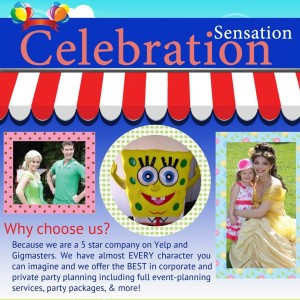 Celebration Sensation - Costumed Character / Balloon Twister in Los Angeles, California