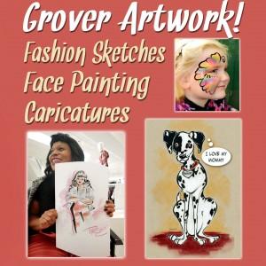Grover Artwork - Face Painter / Caricaturist in Hanover, Pennsylvania