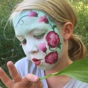 Jade Bamboo face painting for all ages - Face Painter in McKinleyville, California