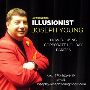 Magician Joseph Young - Corporate Comedian / Comedy Magician in Knoxville, Tennessee