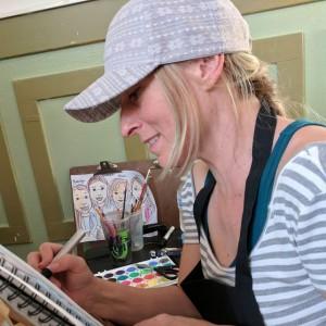 Julie Christine Art - Caricaturist / Arts & Crafts Party in San Jose, California