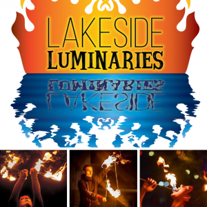 Lakeside Luminaries - Fire Dancer in Sheboygan, Wisconsin