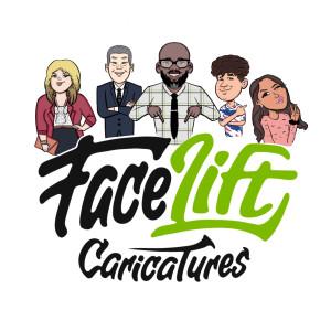 Face Lift Caricatures - Caricaturist in San Antonio, Texas