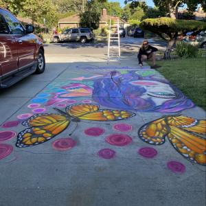 Loving Art - Chalk Artist in Redwood City, California