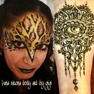 Luna sirena body art by gigi - Henna Tattoo Artist / Face Painter in Albuquerque, New Mexico