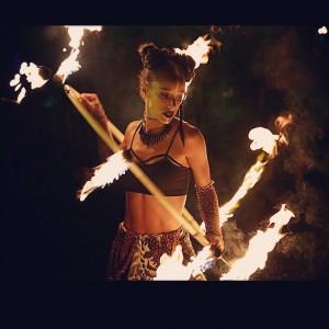 Mega Babe - Fire Dancer in Akron, Ohio