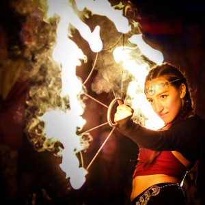 Monica River - Fire Dancer in Baltimore, Maryland