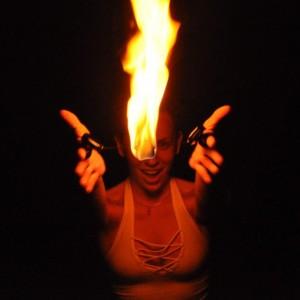 Phoebe Flows - Fire Dancer in Portland, Maine