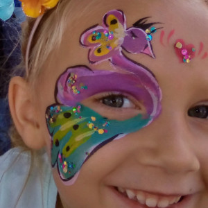 Queen Holding Court - Face Painter in Waconia, Minnesota