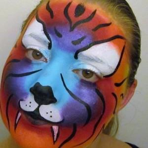 Rainbow Kitty Face Painting