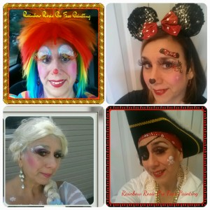 Rainbow Rosie Professional Face Painting - Face Painter / Clown in Lindenhurst, New York