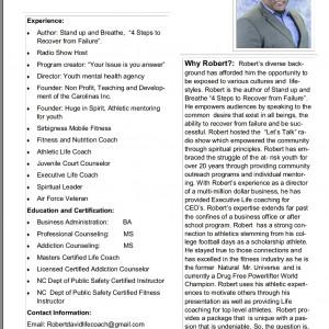 Robert David Sr. - Christian Speaker in Rockingham, North Carolina