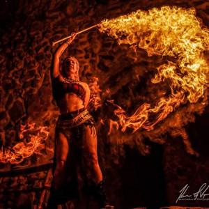 Sacred Flower Performance Art - Fire Dancer in Denver, Colorado