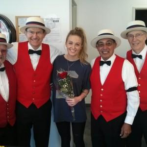 Singing Valentines - Barbershop Quartet in Fullerton, California