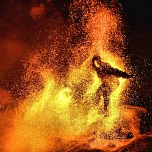 Tamed Fire - Fire Dancer in Fresno, California