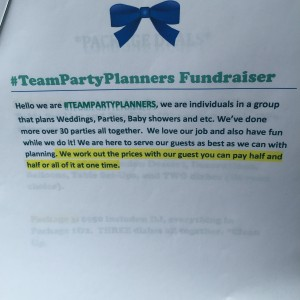 #TeamPartyPlanners