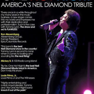 Tommy Lynn & One Hot Night - Neil Diamond Tribute in Long Island, New York