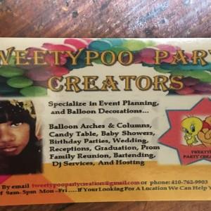 TweetyPoo Party Creators - Event Planner in Baltimore, Maryland