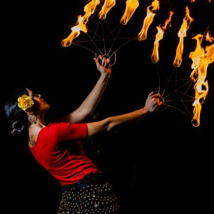 Wildfire Tina - Fire Dancer in Santa Fe, New Mexico